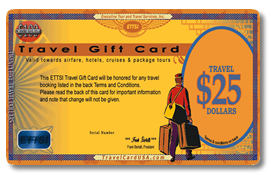 Travel Gift Card come in any denomination